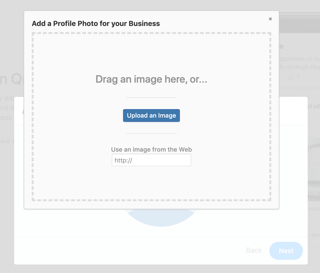Adding a profile picture for your Business Profile on Quora
