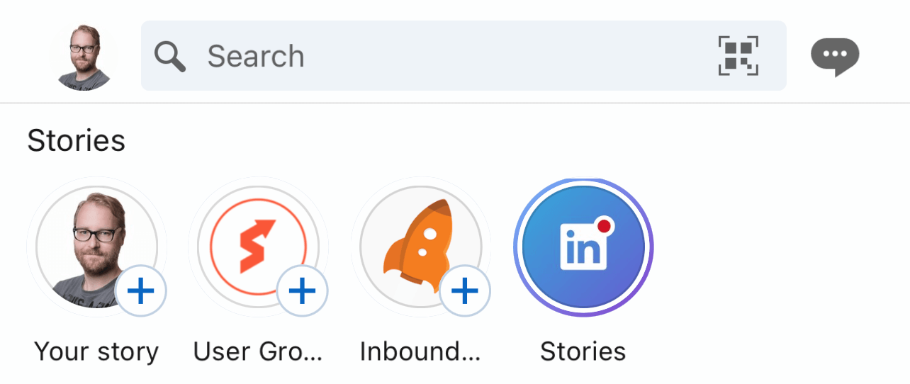 Where to find LinkedIn stories