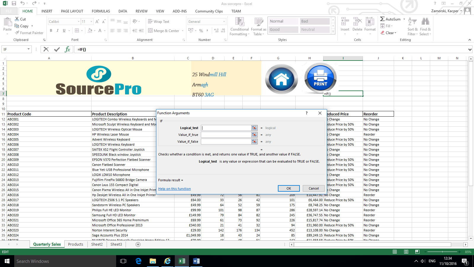 If Statment Excel User Guide