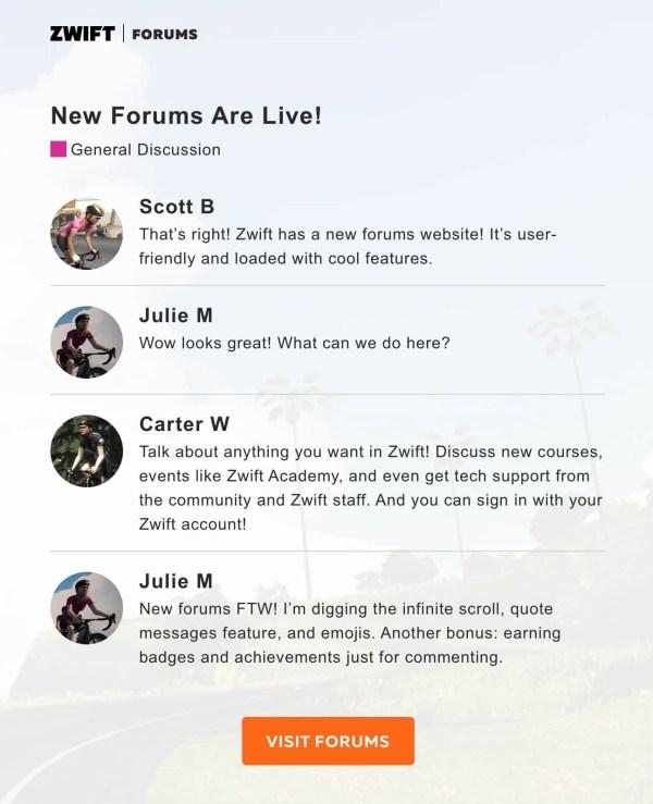 Zwift Forums