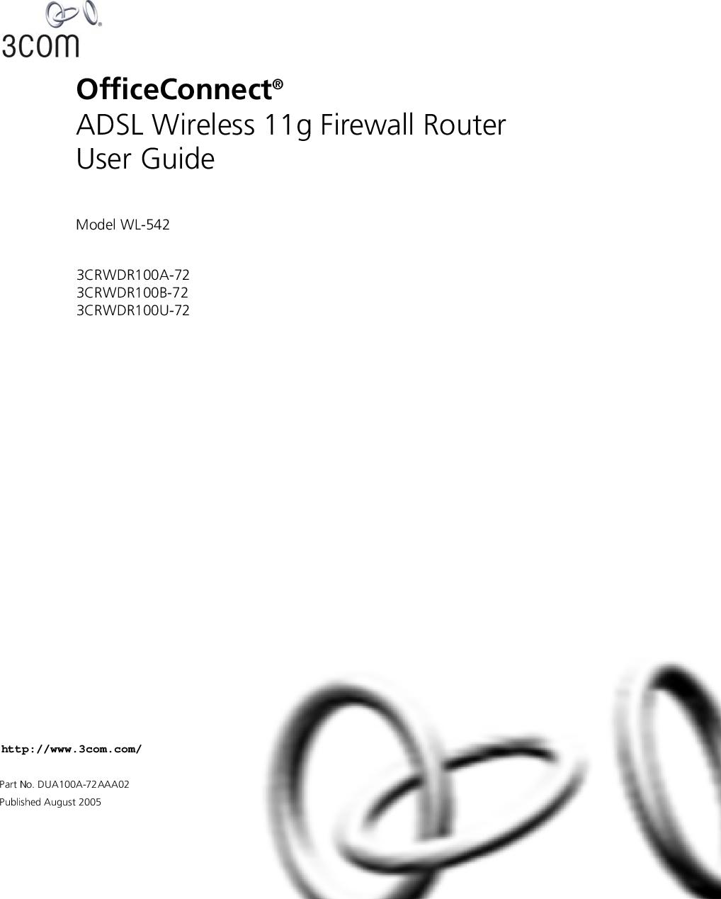 3Com WL 542 3Com® OfficeConnect® ADSL Wireless 11g