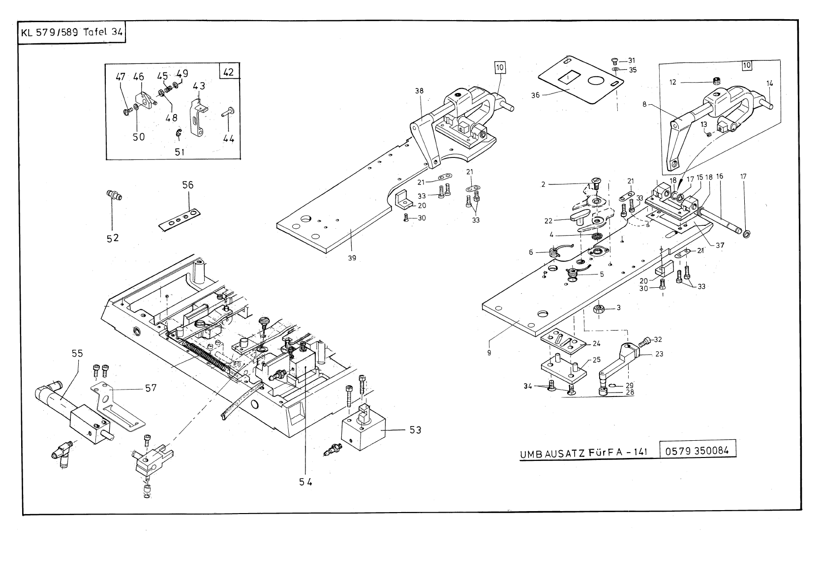 ACE&EASTMAN Durkopp 579 589 PrintTable User Manual