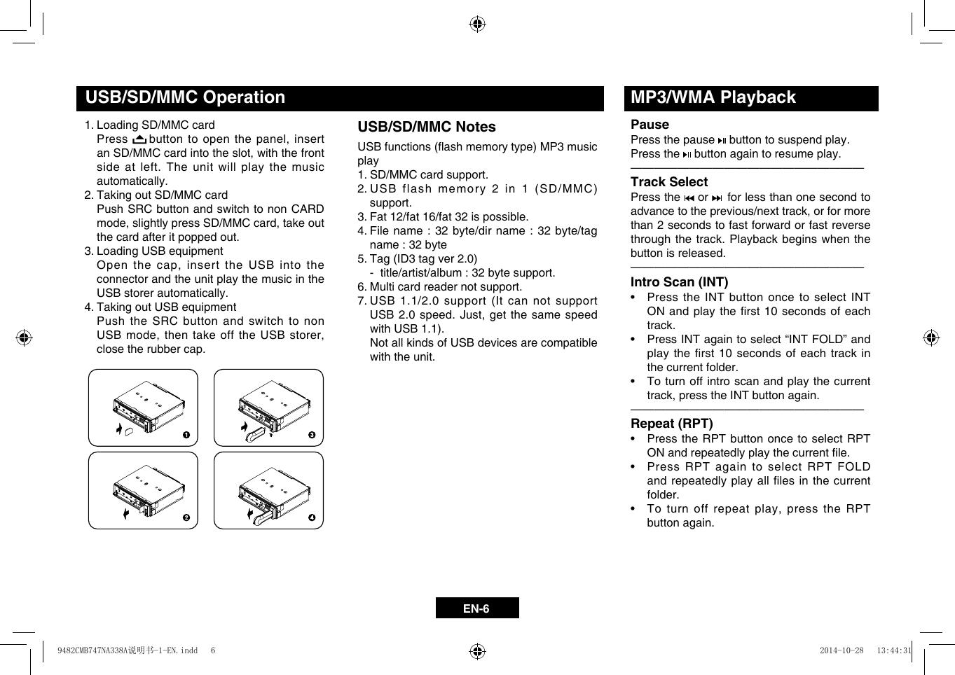AMS DIFFUSION CB710 Car Audio User Manual