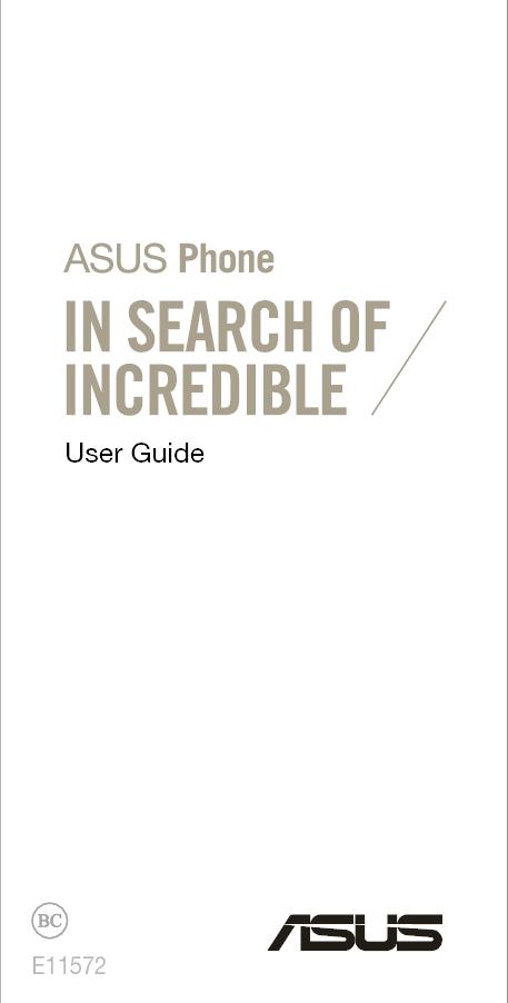 ASUSTeK Computer Z016D ASUS Phone User Manual