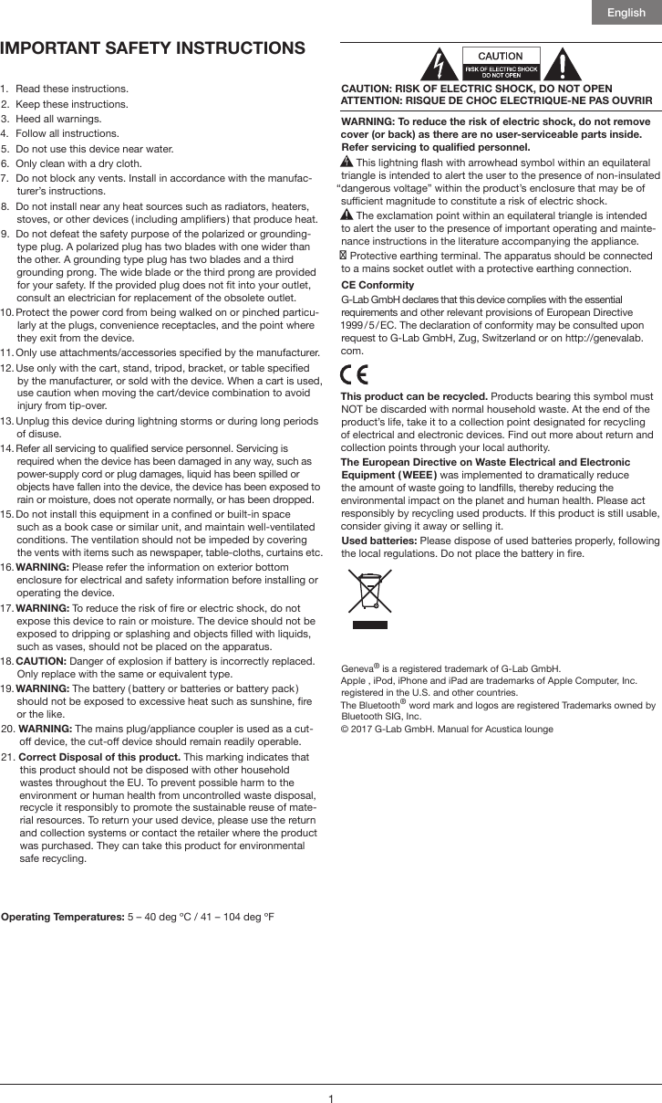 AUDIO PRO C3 WIRELESS SPEAKER User Manual Addon C3