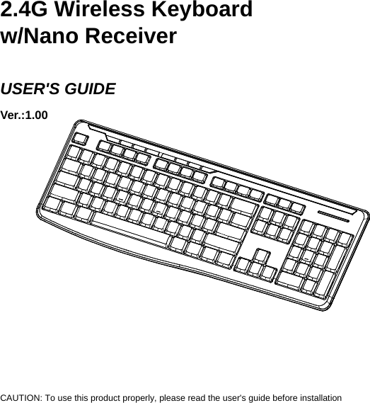 Acrox Technologies KB31 2.4G Wireless Keyboard User Manual