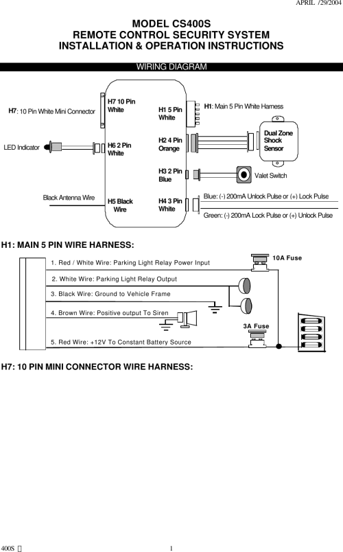 small resolution of car alarm wiring guide