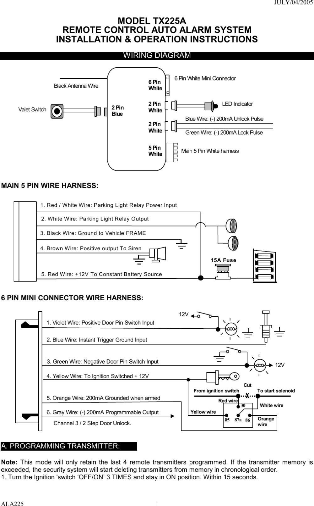 medium resolution of car alarm wiring guide