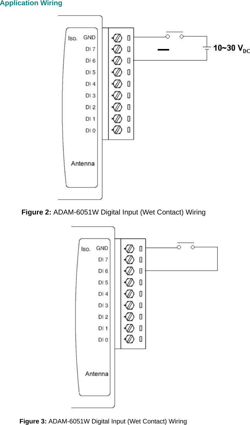 hight resolution of application wiring figure 2 adam 6051w digital input wet contact wiring figure