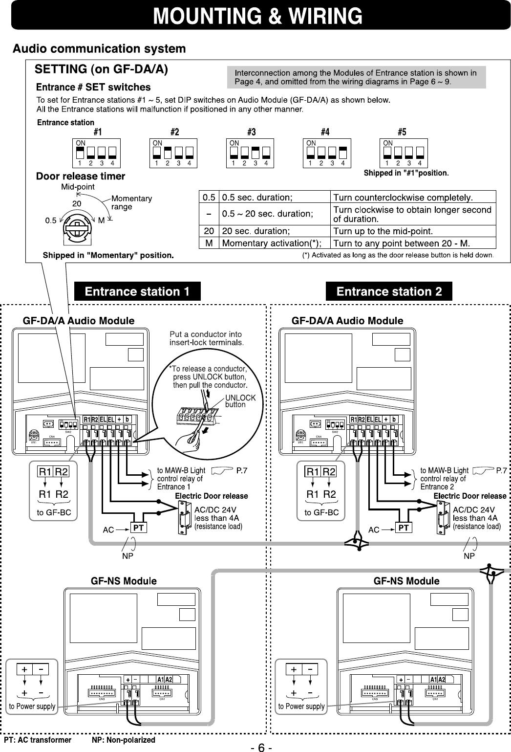 Aiphone Gf 1Md Users Manual 001