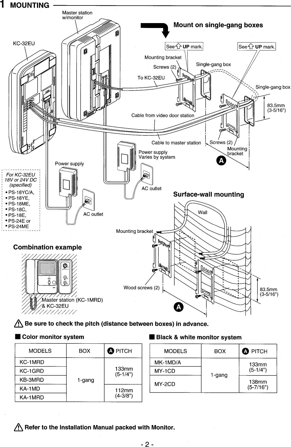 Aiphone Kc 32Eu Users Manual