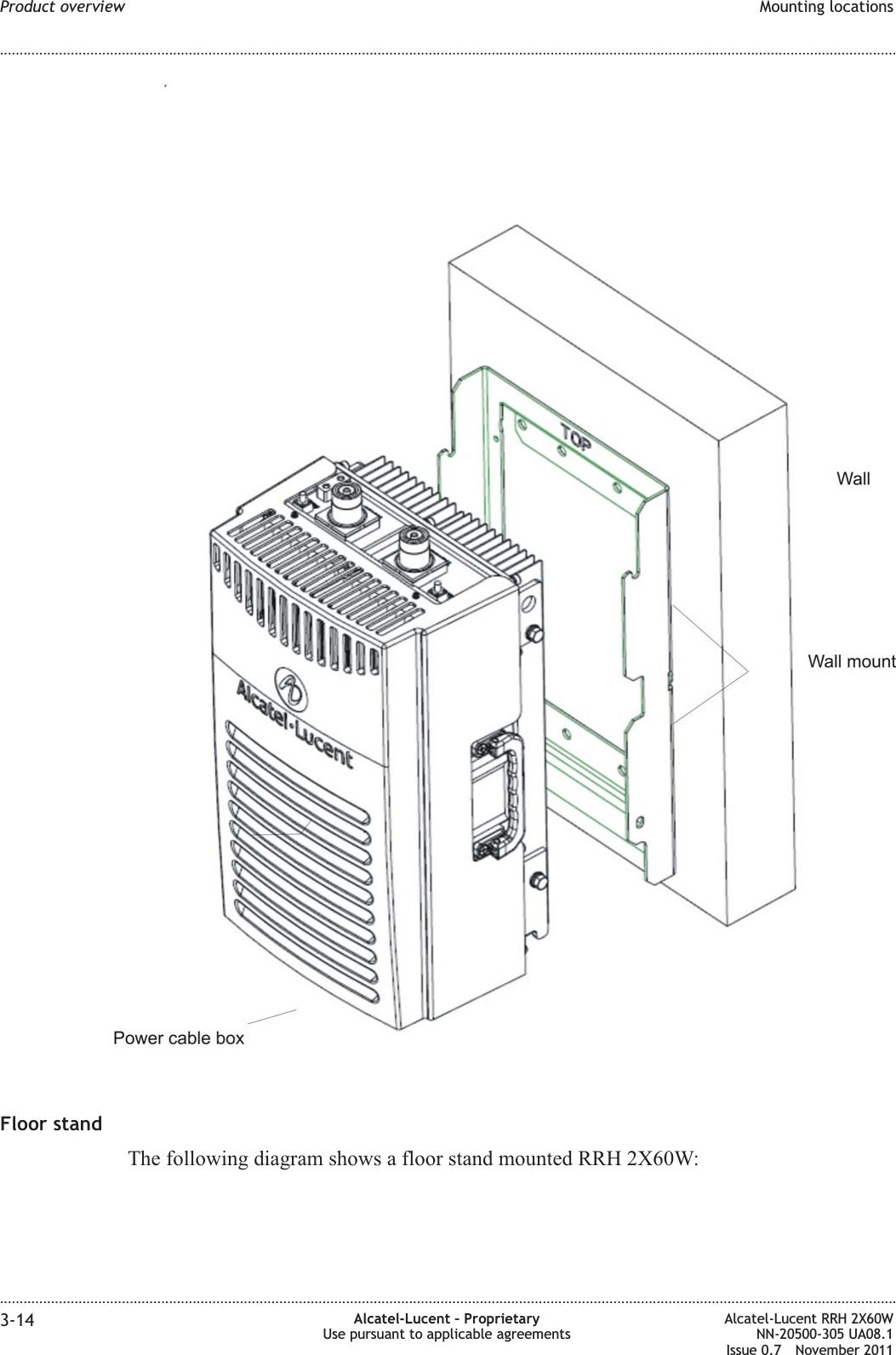 Alcatel Lucent USA ONEBTS-26 RRH2X60-850 User Manual 13T