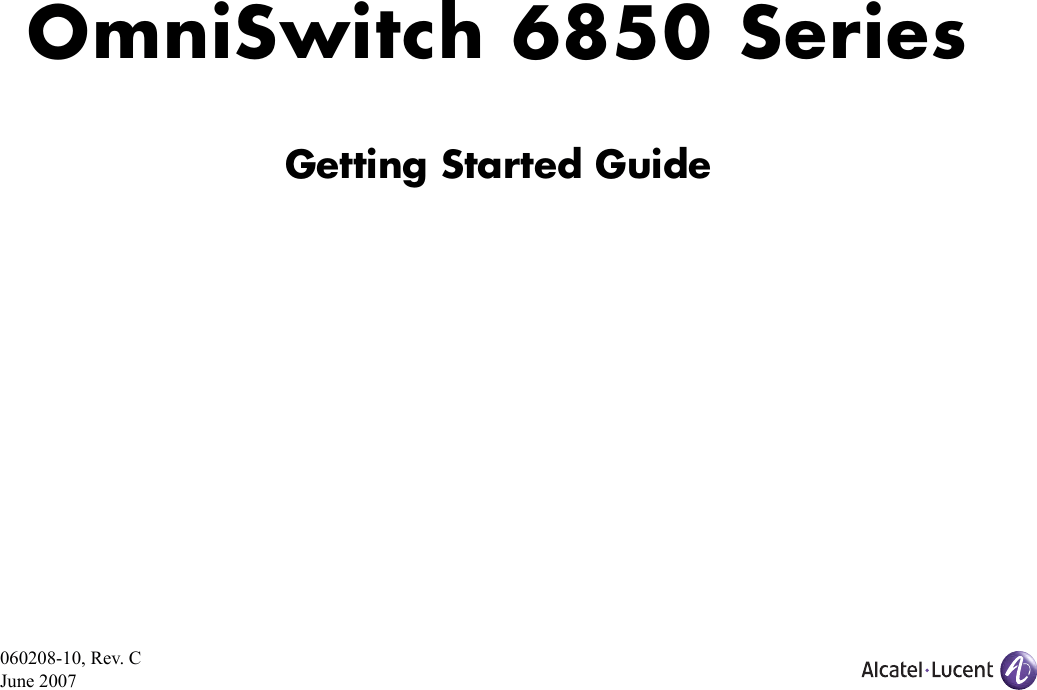 Alcatel Lucent Switch 6850 24 Users Manual OmniSwitch