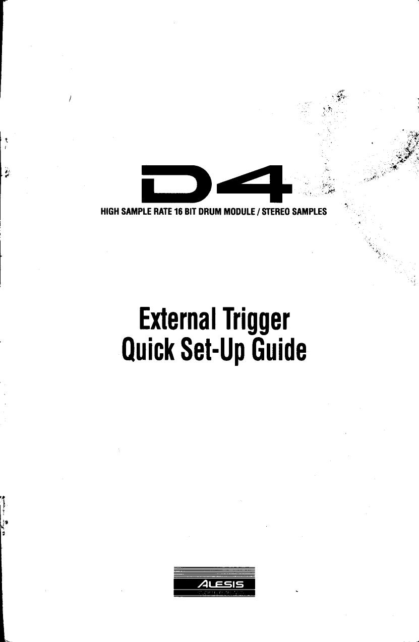 Alesis D4 Users Manual