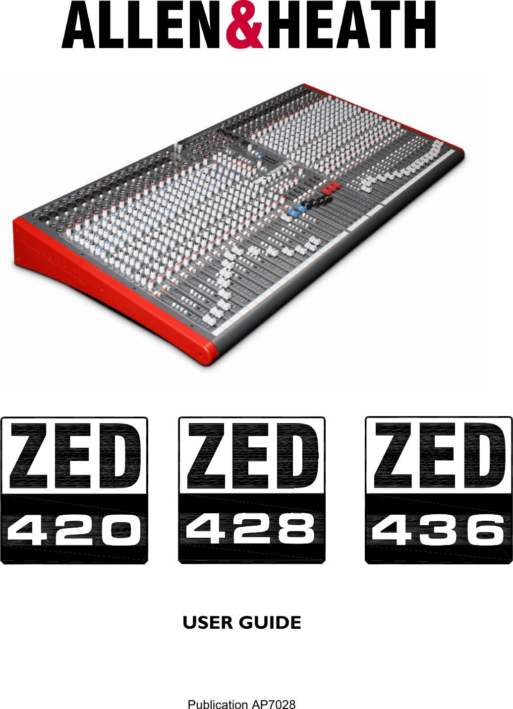 Allen And Heath Zed 436 Users Manual AP7028_iss_1