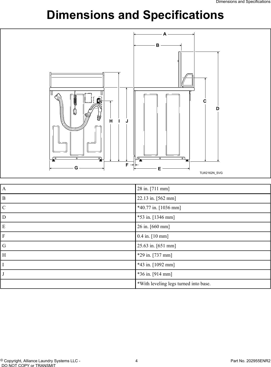 hight resolution of page 4 of 12 alliance awne82sp113tw01 installation instructions user manual washer manuals and guides
