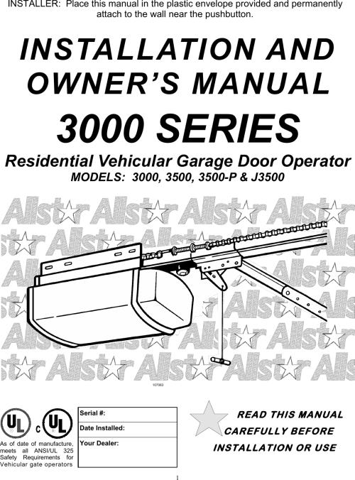 small resolution of all star garage door opener wiring diagram