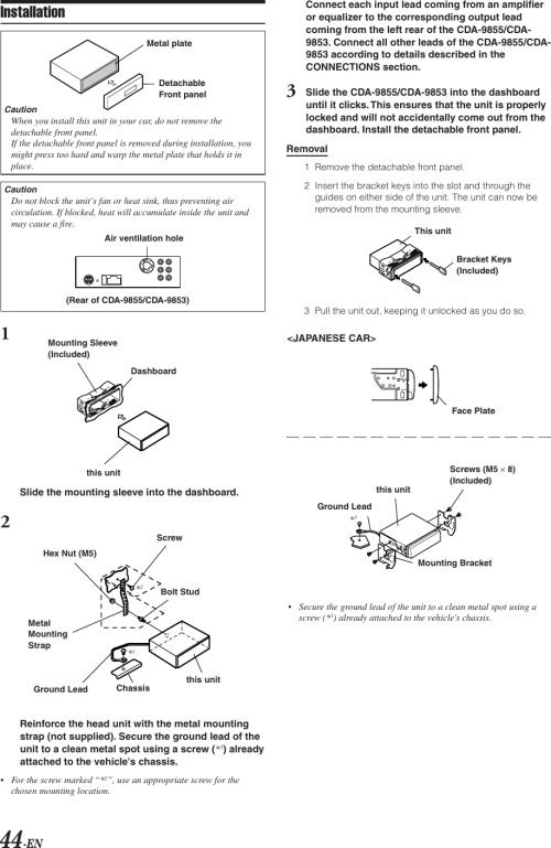 small resolution of alpine cda 9853 wiring diagram