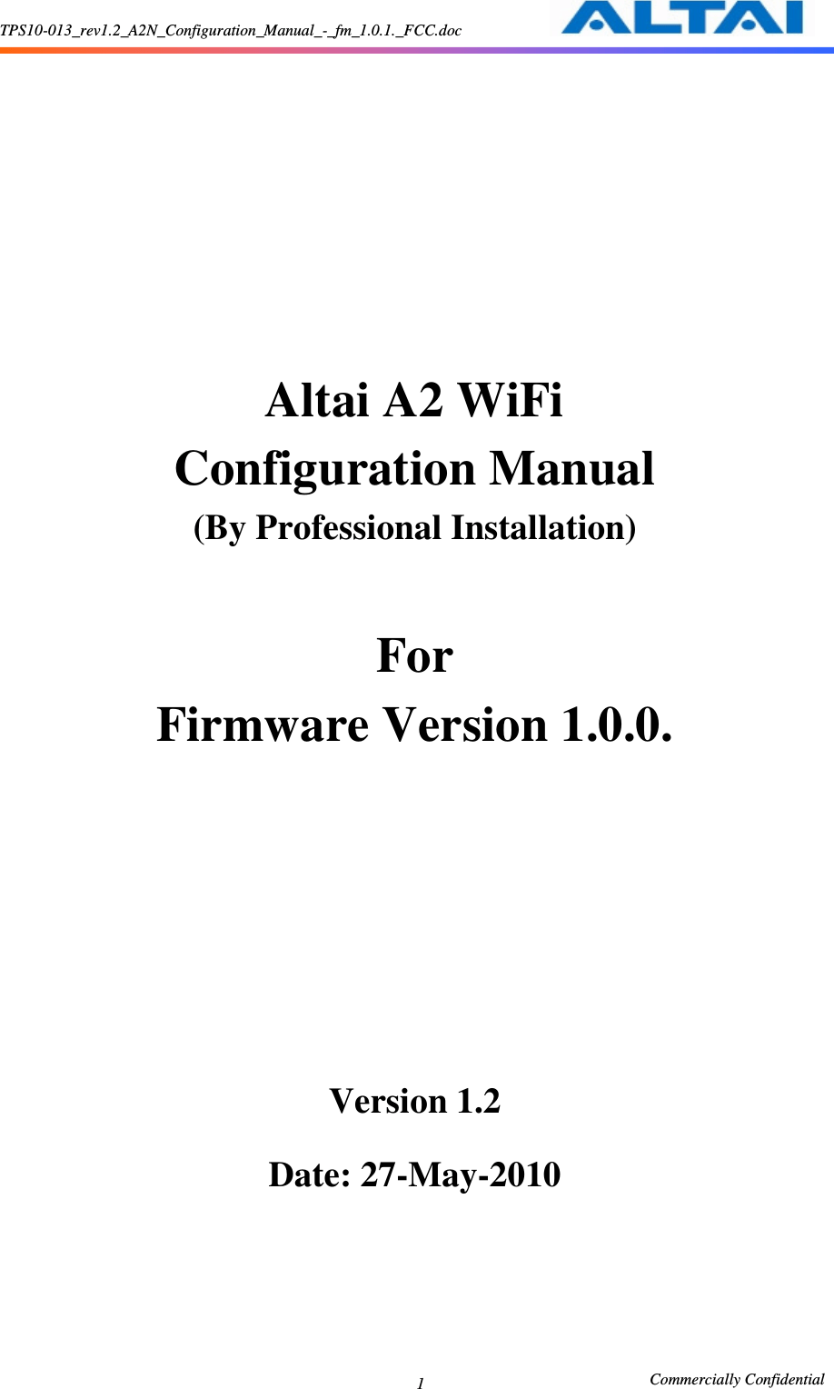 Altai Technologies AP5822A A2 WiFi Access Point/Bridge