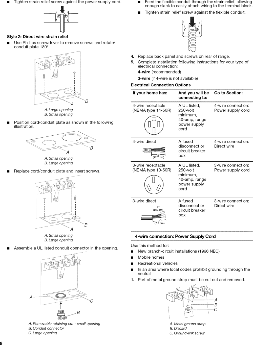 medium resolution of page 8 of 12 amana aep222vaw1 user manual 20 electric freestanding range manuals and