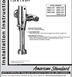 page 1 of 9 american standard american standard selectronic 6065  [ 1147 x 1525 Pixel ]
