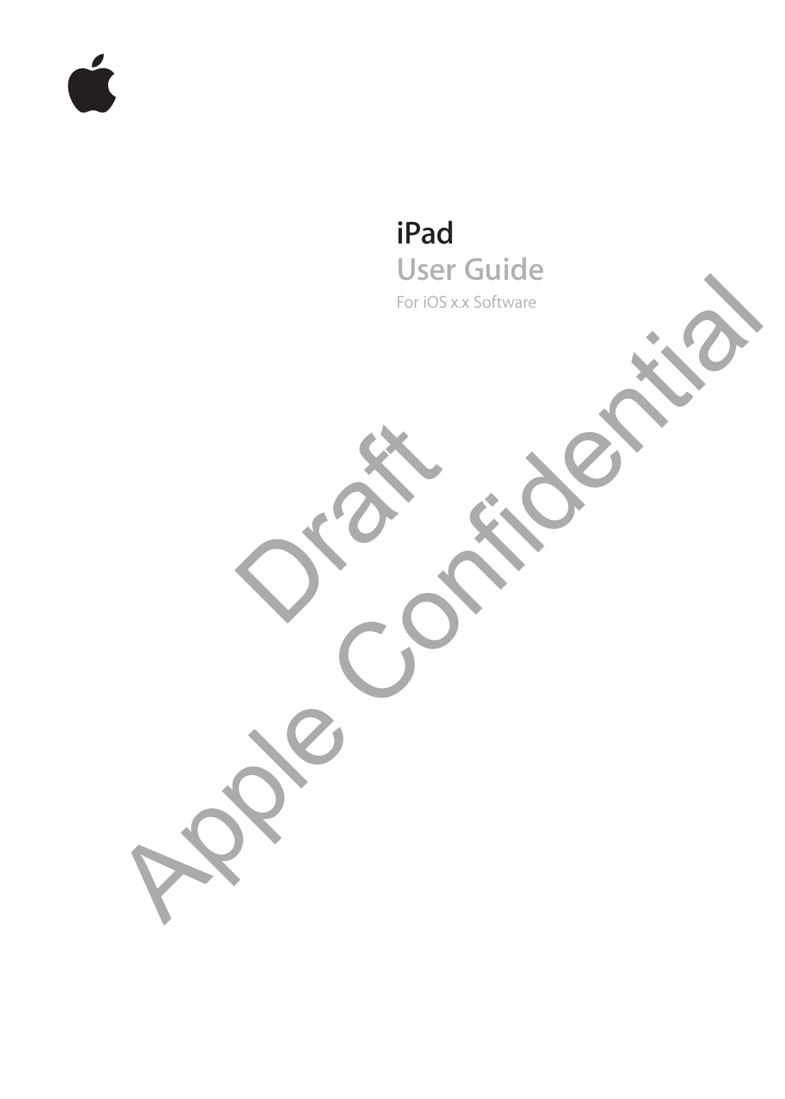 Apple A1458 Tablet Device User Manual iPad User Guide
