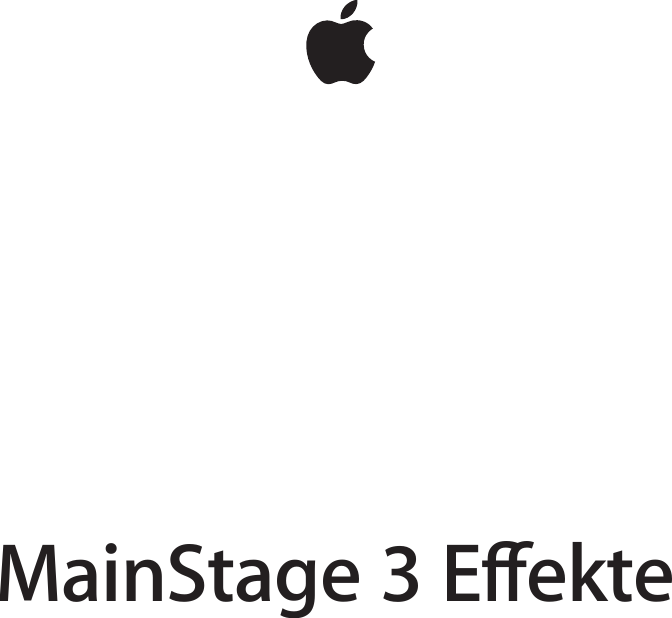 Apple MainStage 3 Effekte User Manual Main Stage Effects D