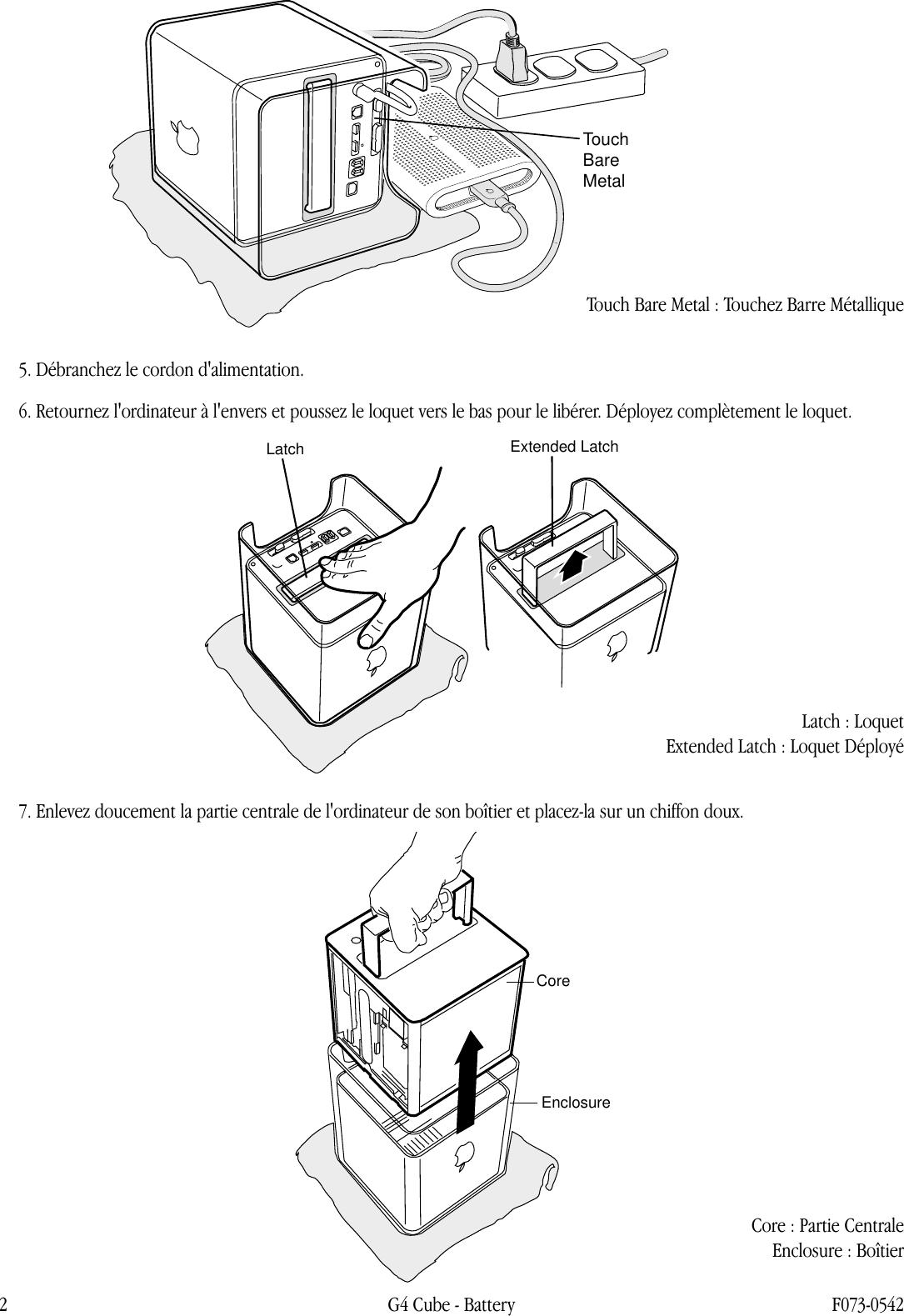 Apple Power Mac G4(Cube) Battery User Manual Power Mac G4