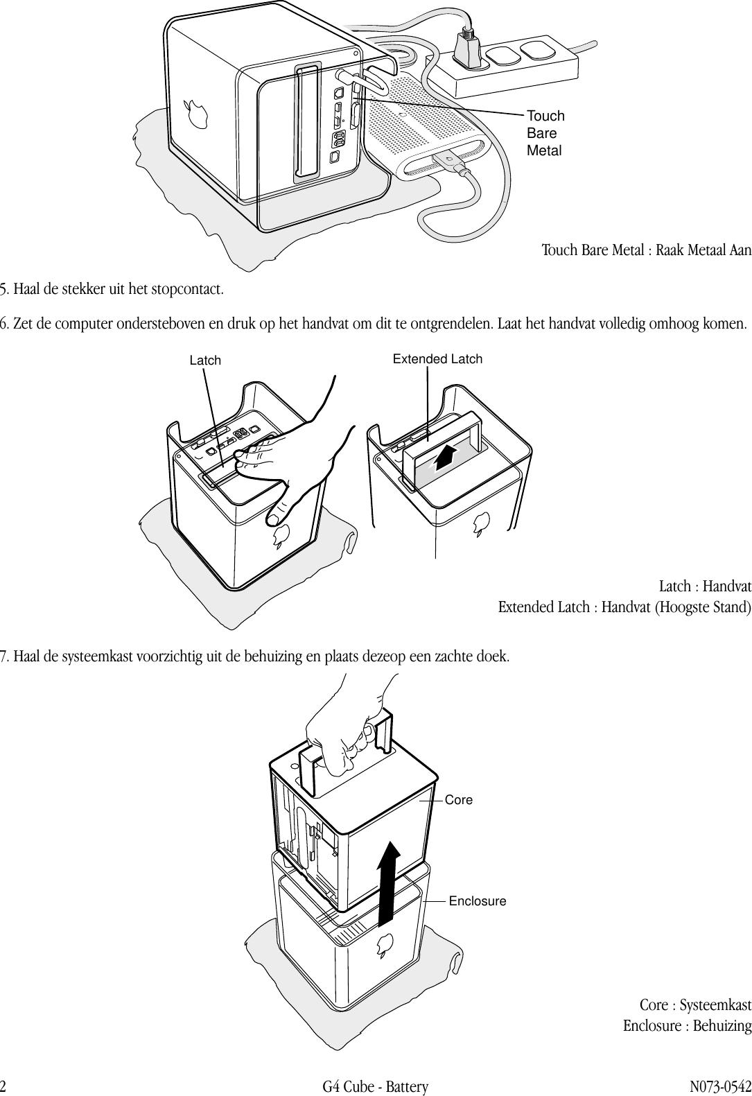 Apple PowerMacG4(Cube) Battery User Manual Power Mac G4