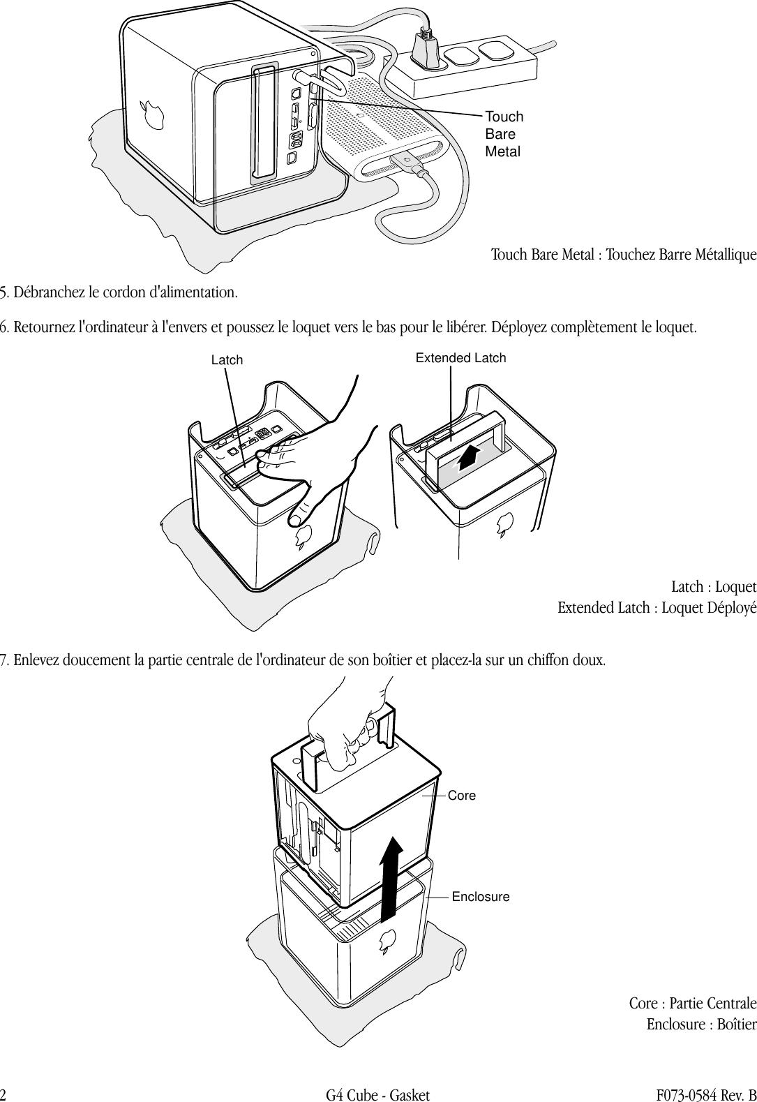 Apple Power Mac G4(Cube) Gasket User Manual Power Mac G4
