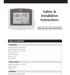 page 1 of 12 aprilaire aprilaire thermostat 8600 users manual  [ 925 x 1375 Pixel ]