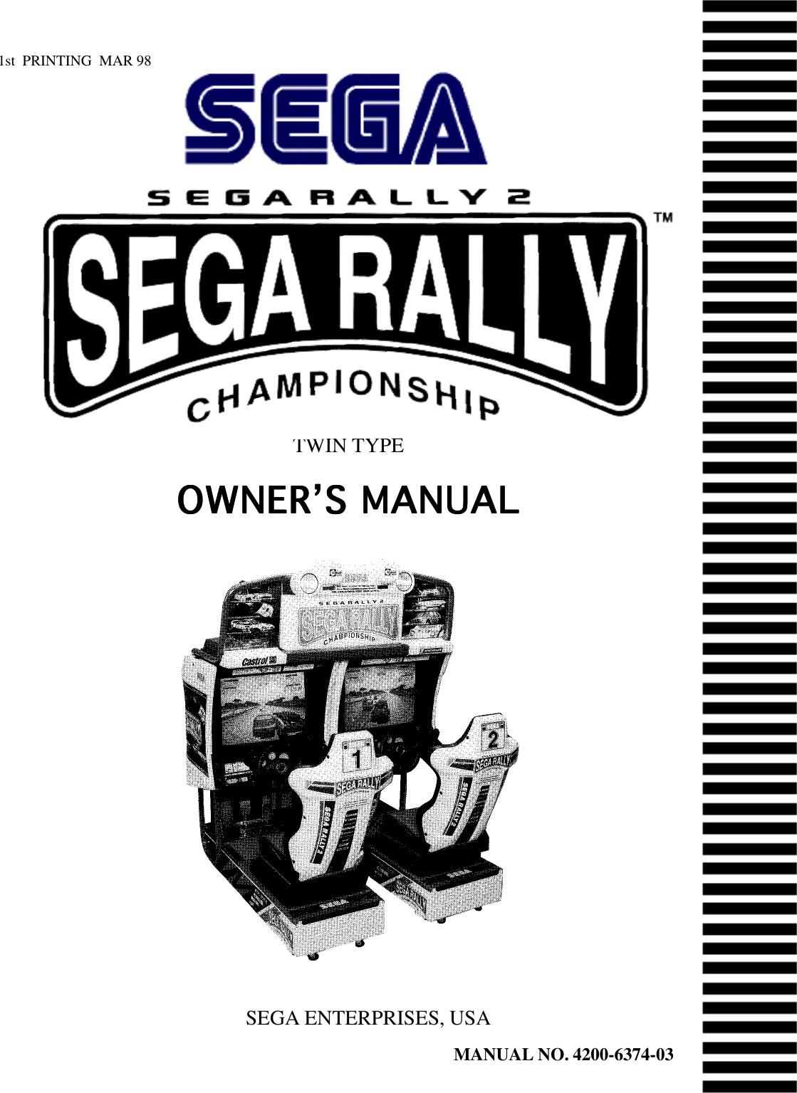 Arcade Sega Rally 2 Twin Manual 1.Rally2Twin User