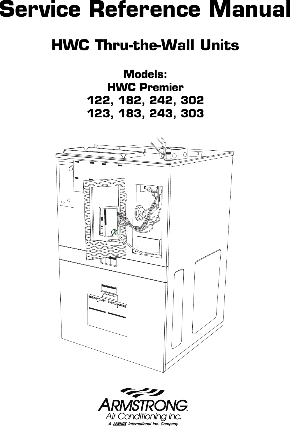 Armstrong World Industries Hwc Premier 183 Users Manual TOC