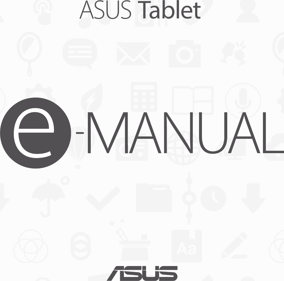 Asus Memo Pad 7 Me176Cx G9541 Users Manual
