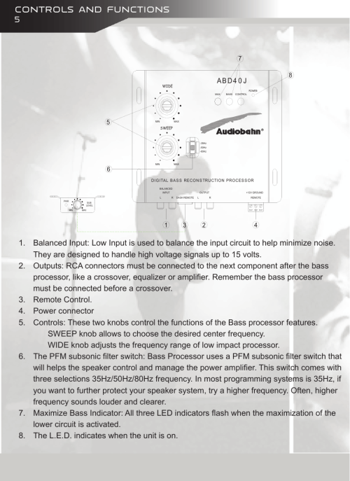 small resolution of page 6 of 12 audiobahn audiobahn abd40j users manual audiobahn