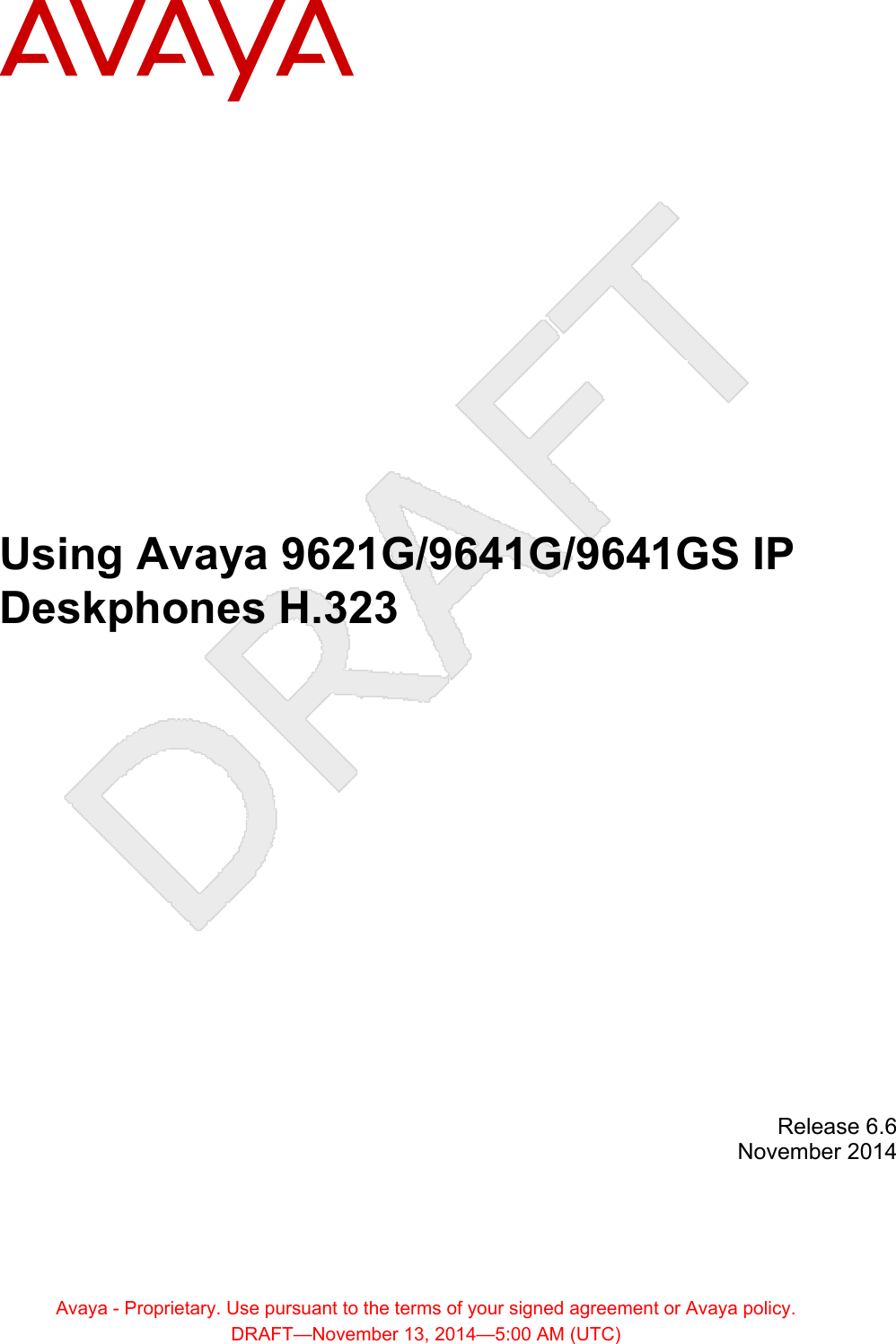 Avaya 9641GS IP Deskphone User Manual Using Avaya 9621G