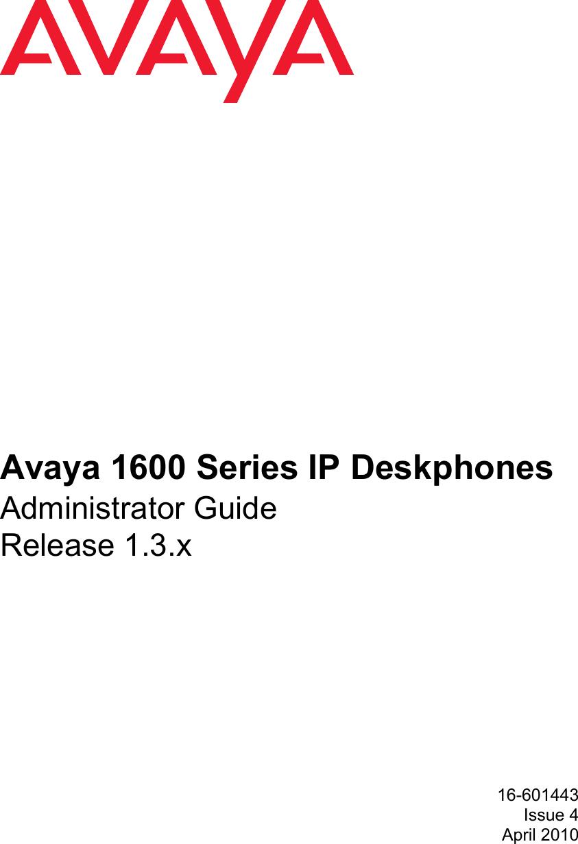 Avaya 1600 Series Administrators Guide