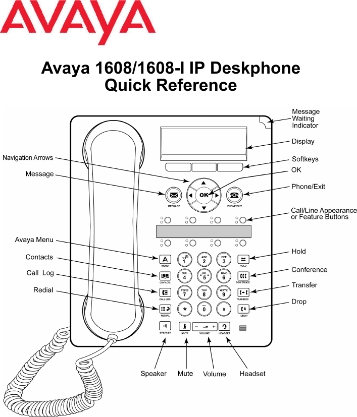Avaya 1608 I Users Manual 1608/1608 IP Deskphone