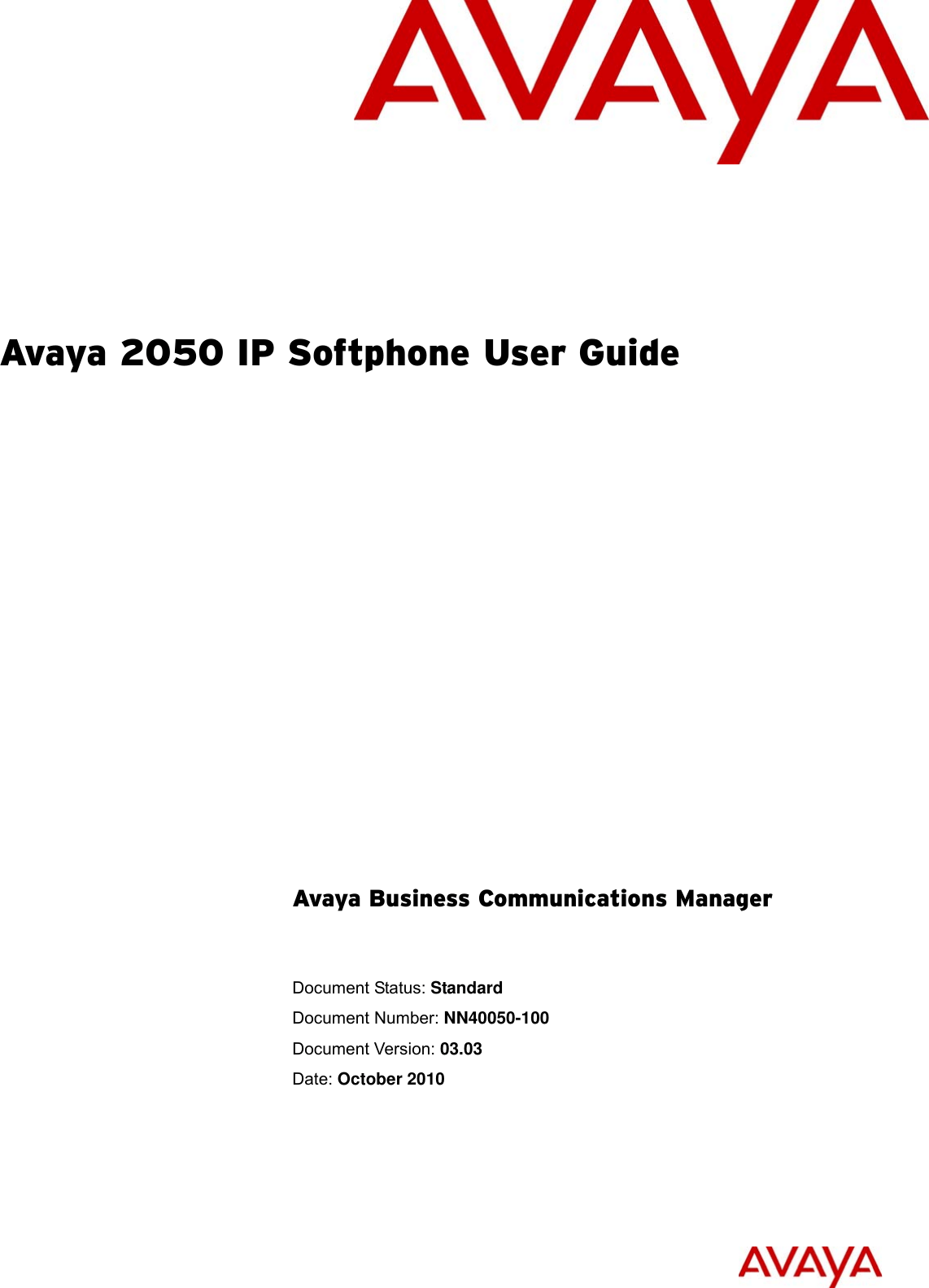 Avaya Business Communications Manager 2050 Ip Softphone