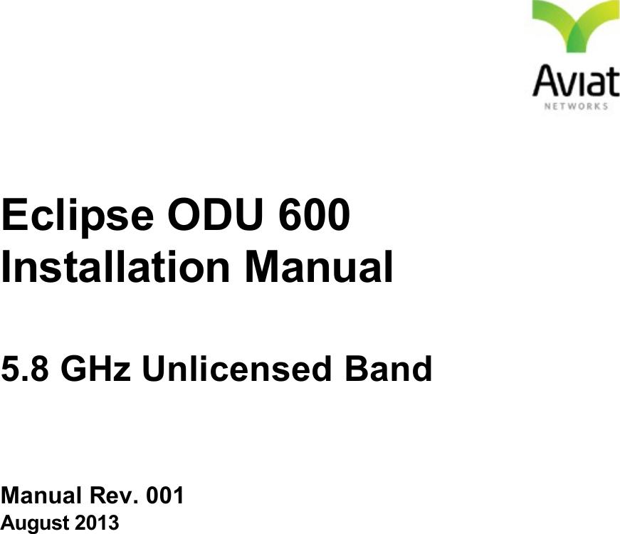 Aviat Networks ODU600HB Eclipse ODU 600 User Manual Eclipse