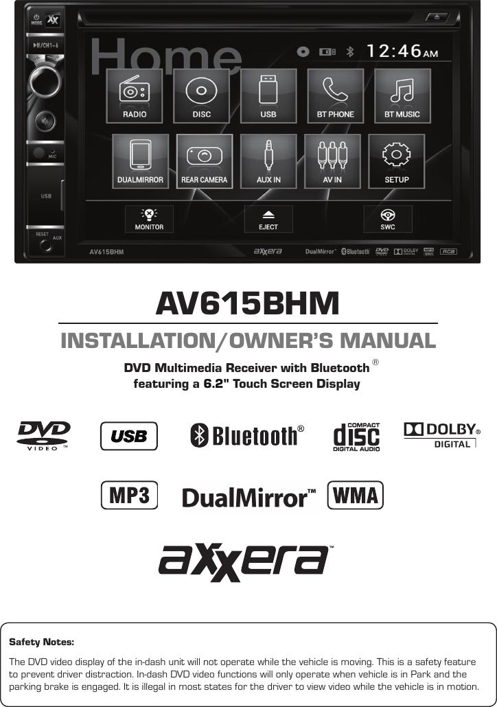 Axxera Av615bhm Installation And Users Guide User