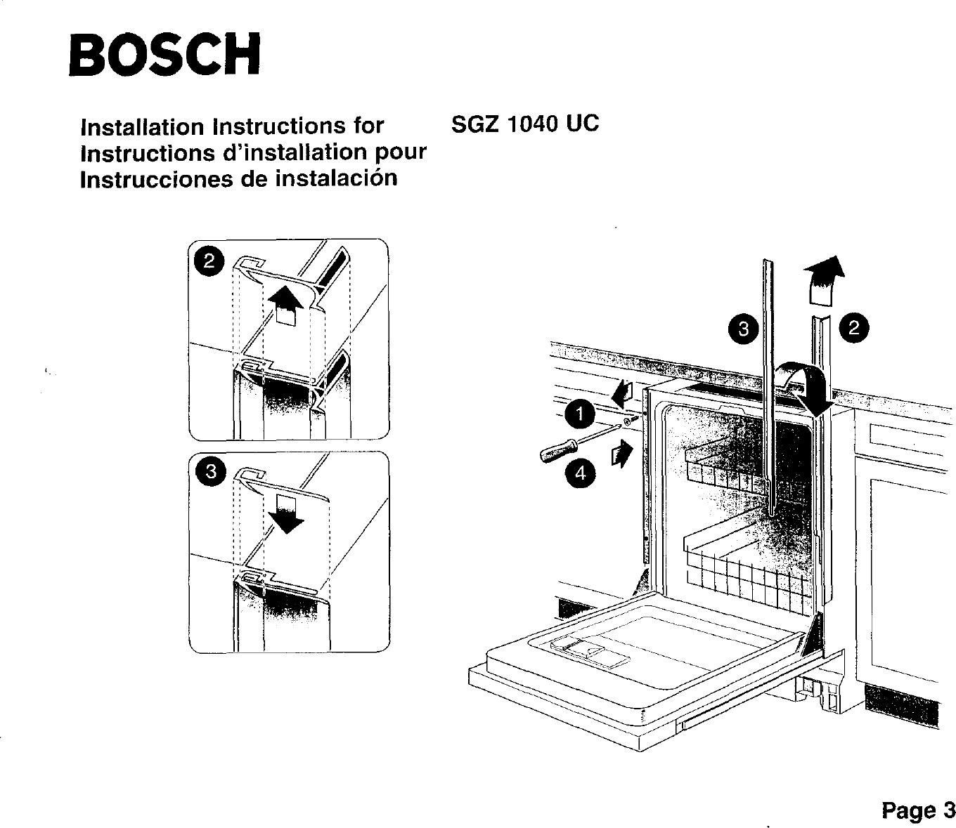 BOSCH Dishwasher Manual L0020047