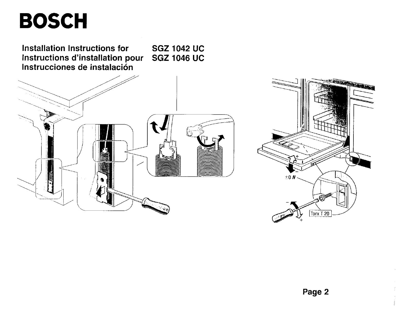 BOSCH Dishwasher Manual L0020047