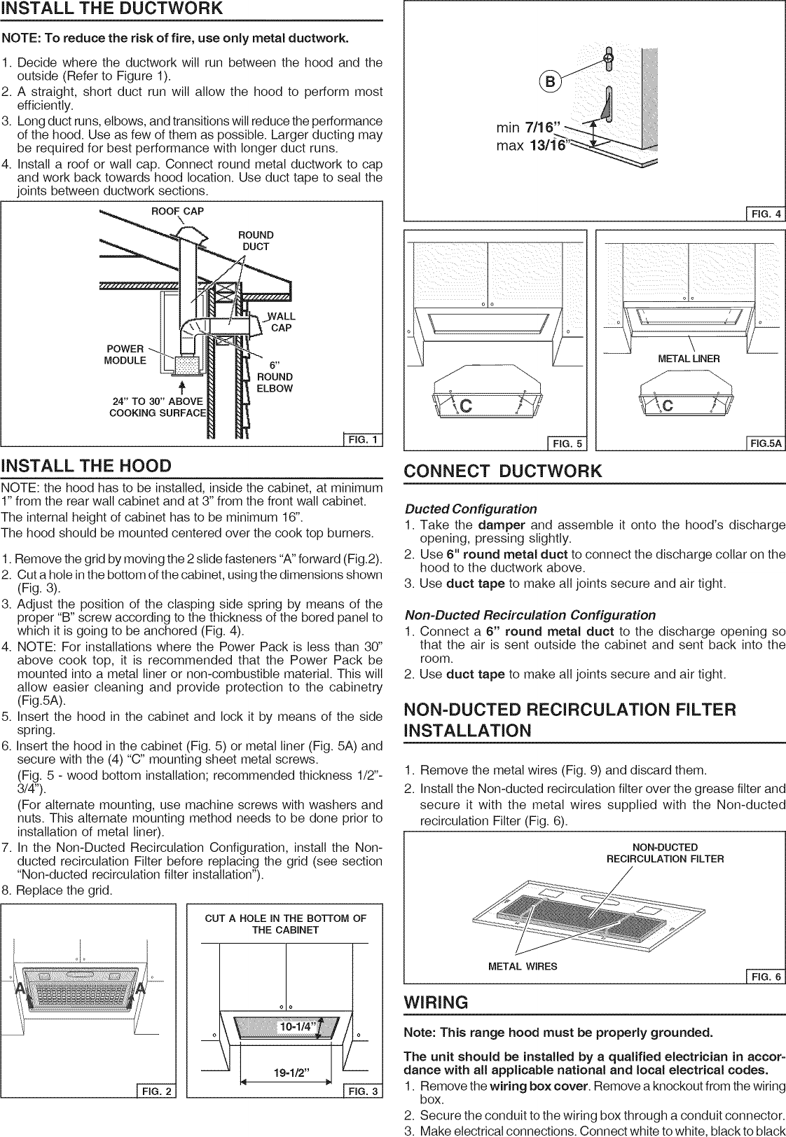 hight resolution of page 2 of 8 broan range hood manual l1002445