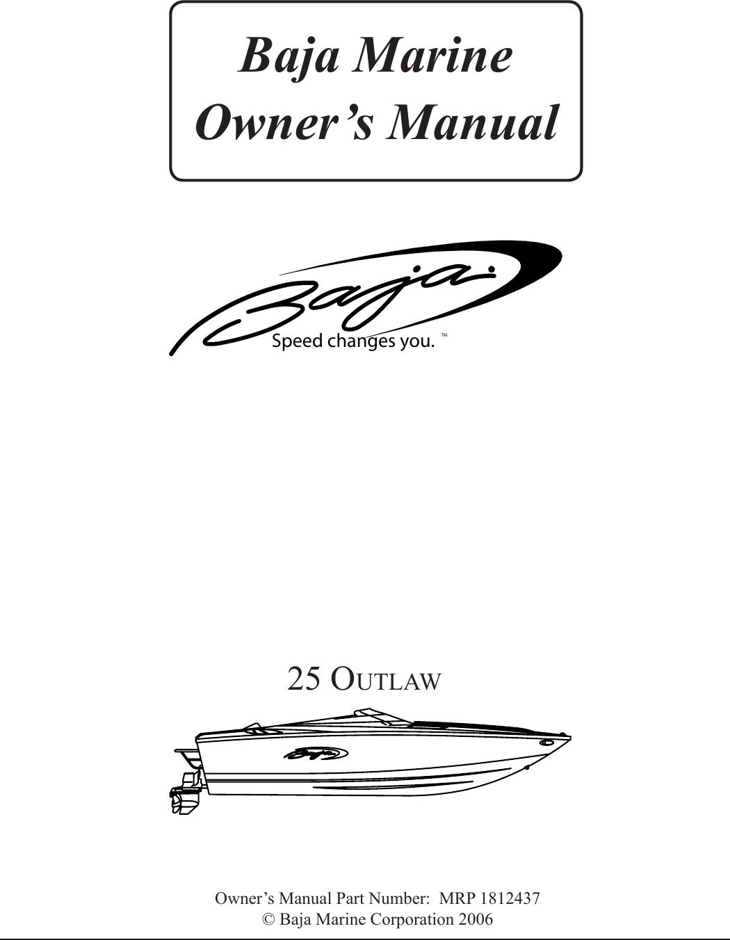 Baja Marine Outlaw 25 Users Manual