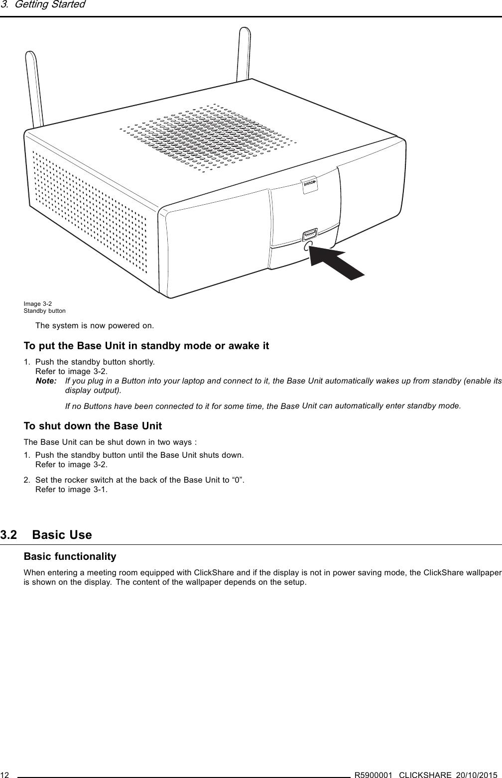 Barco NV R9861500D01 ClickShare Button User Manual 1