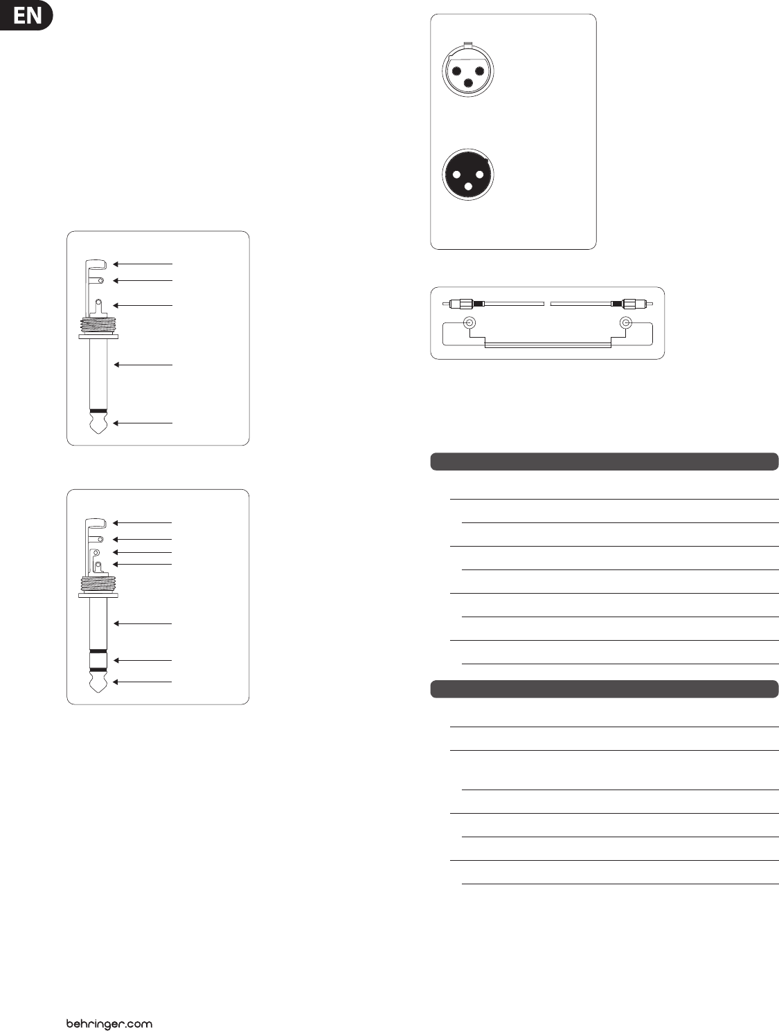 Behringer Ultratone K1800Fx Users Manual K3000FX/K1800FX