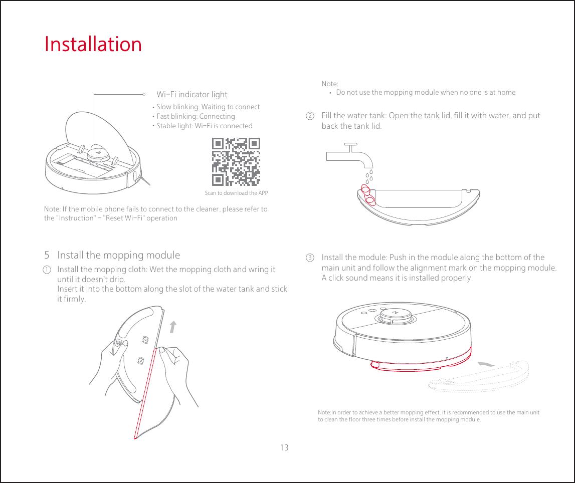 Beijing Roborock Technology RS001 S501-01, S551-01 User Manual
