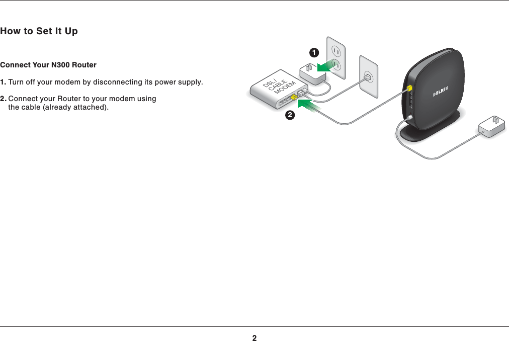 Belkin F9K1002V4 N300 Wireless N Router User Manual