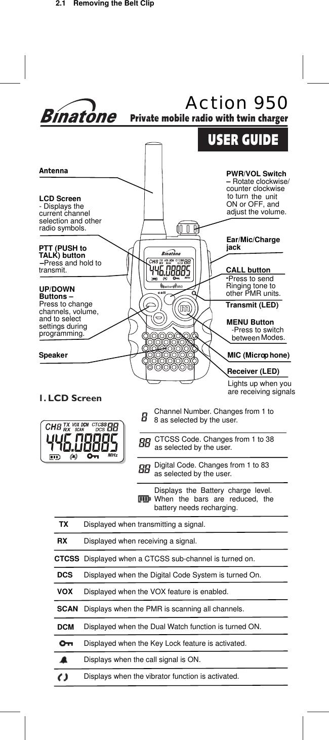 Binatone Action 950 Users Manual